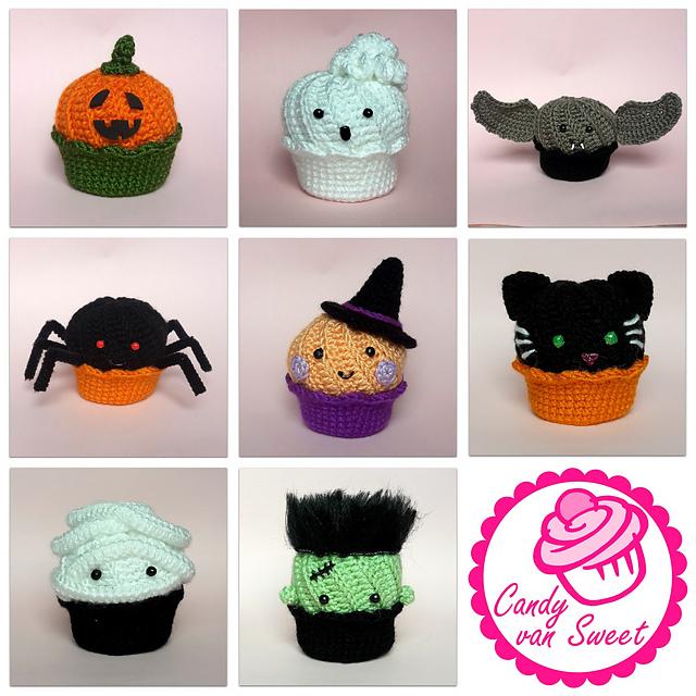 Amigurumi Halloween Free : Amigurumi freely halloween cupcakes