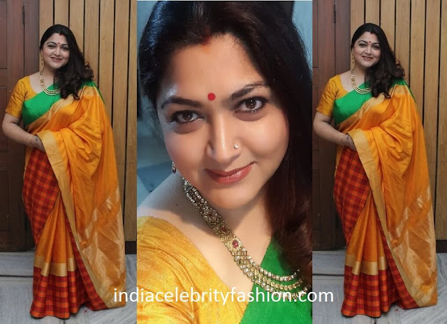 Kushboo Sundar in Light Weight Silk Saree