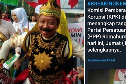 Ketum PPP Ditangkap KPK, Tagar #RommyJumatanDimana Masuk Trending Topik