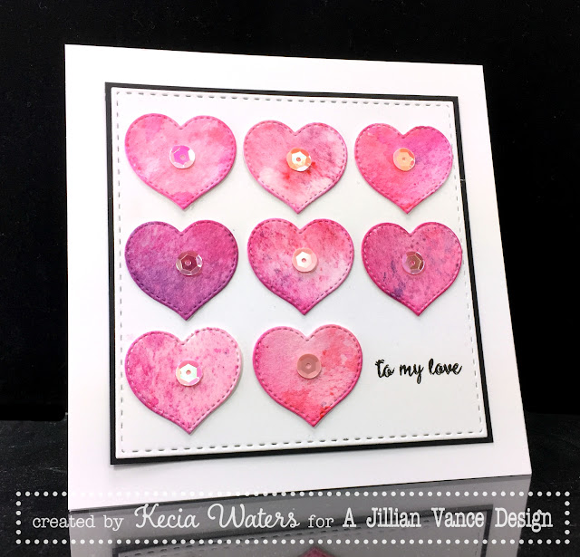 Kecia Waters, watercoloring, Valentine's Day, hearts, AJVD