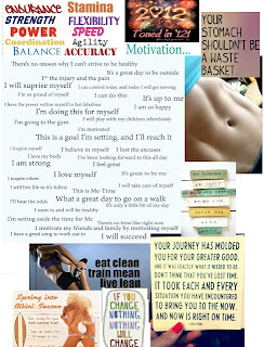 sample fitness vision board