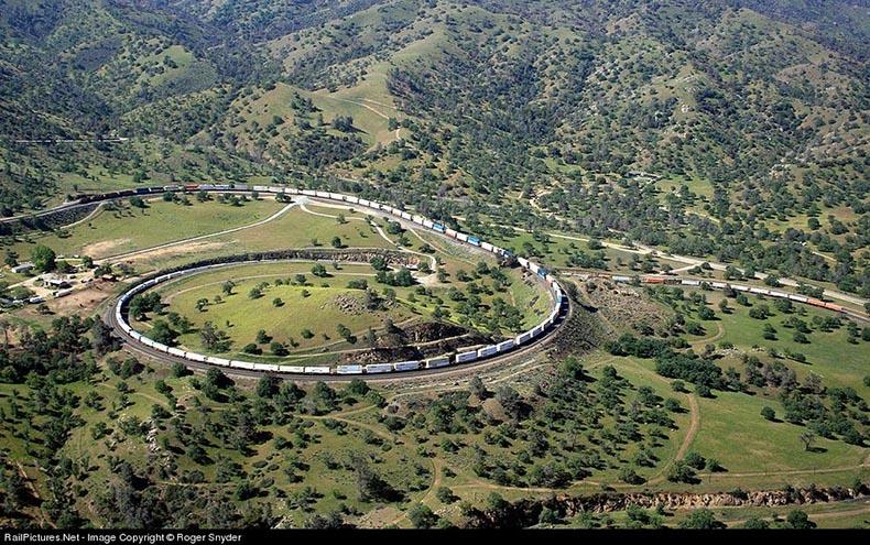 Tehachapi Loop, un bucle ferroviario en California | Estados Unidos