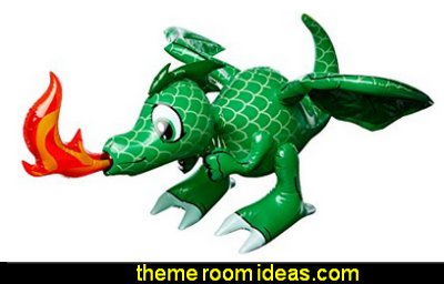 Fire Breathing 30 Inch  Dragon Inflatable  medieval knights party props - castle theme party decorations - Medieval theme party decorating - Castle party props - princess party props - knight and princess costumes - Princess & Knight party ideas - Medieval wall decorating kit - harry potter party supplies - Medieval Birthday Party