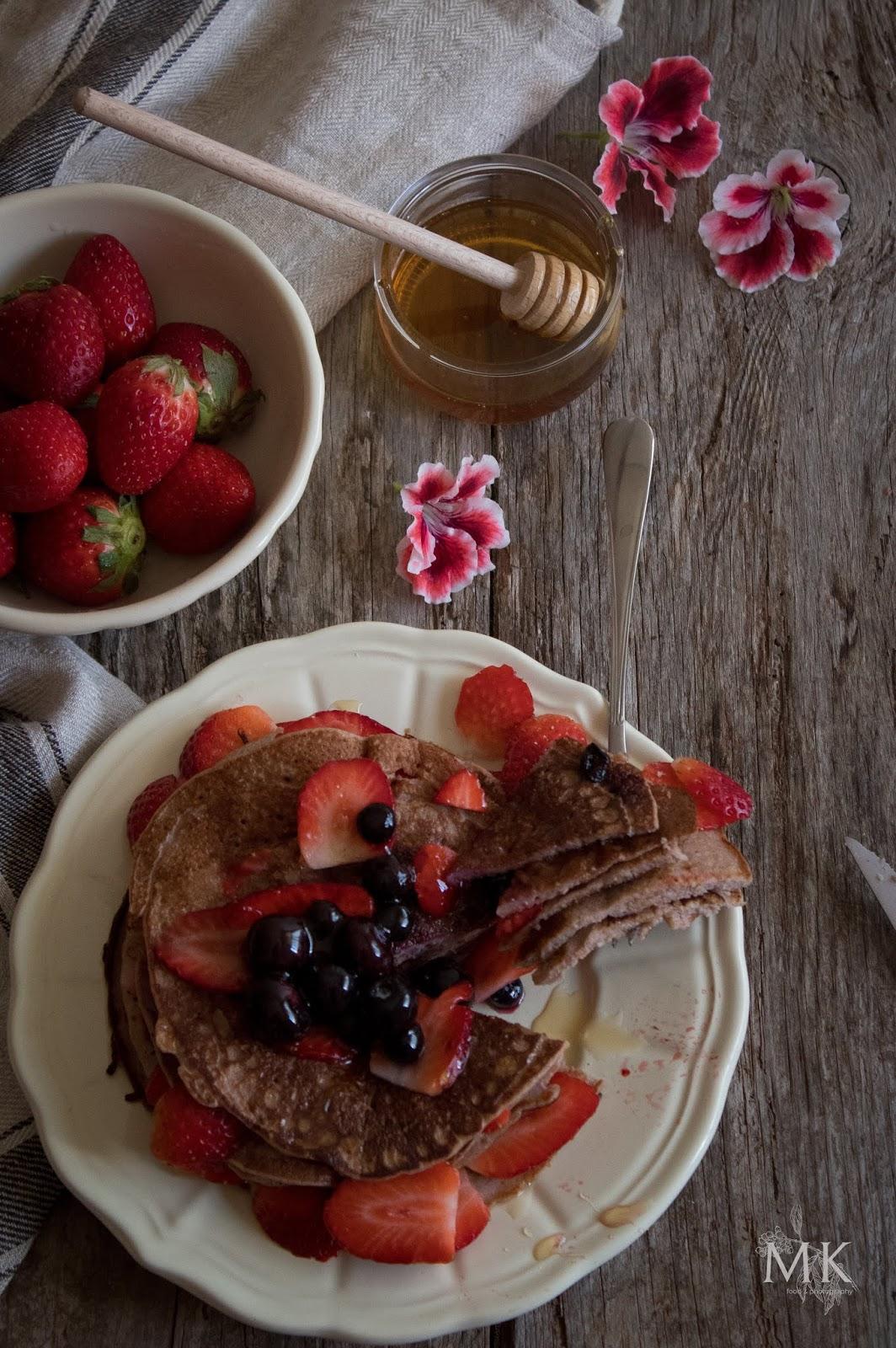 pancakes-proteicos-fresas