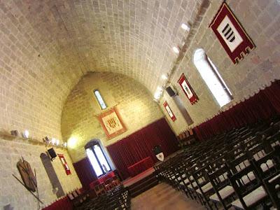Salón gotico del castillo de Peñiscola