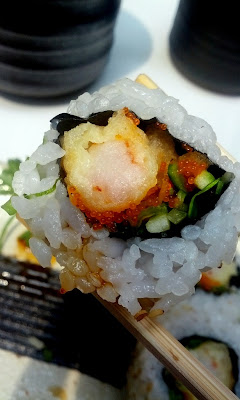 Shrimp Tempura Roll at Sushi Zen in New York, NY - Photo by Taste As You Go