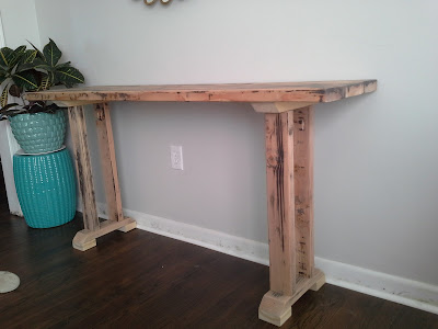 DIY build rustic farmhouse console table
