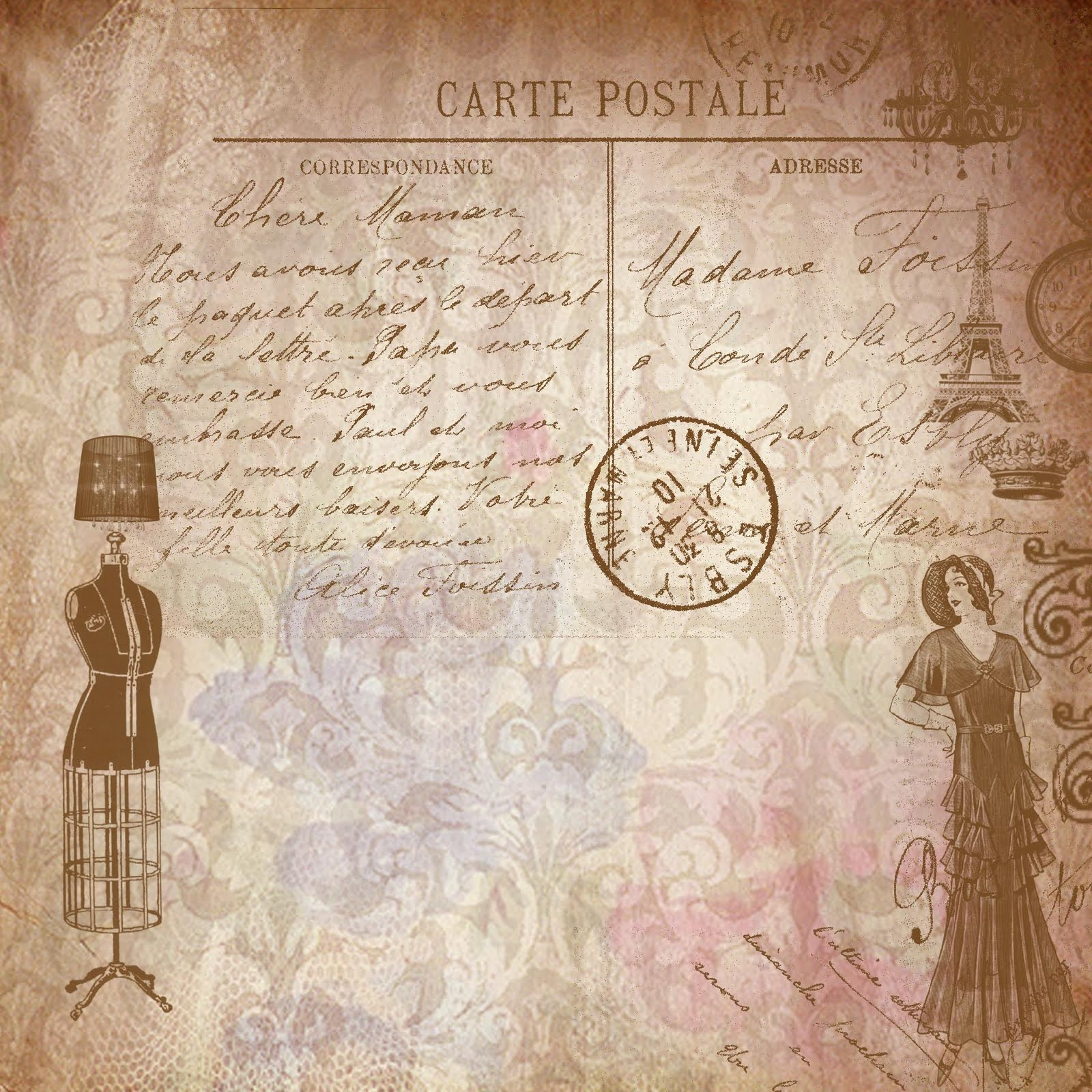 Papel Decorativo De Scrapbook Vintage