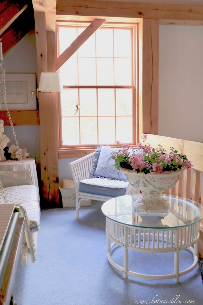 Choose one color to use as a background to layer other colors onto to create a summery French Country look.