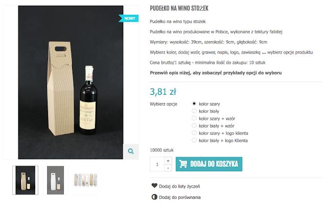 Pudełka na wino z tektury falistej
