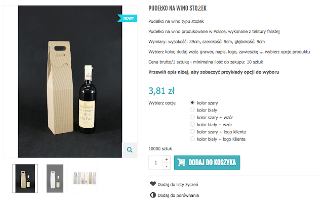 Pudełko na wino białe