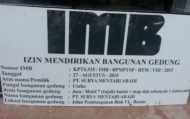 Penerbitan IMB Hotel Kuning 7 Lantai Oleh BPM-PTSP Batam : Penyalahgunaan Wewenang