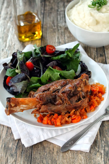 Slow Cooker Citrus Lamb Shanks is a scrumptious and flavorful meal for citrus season