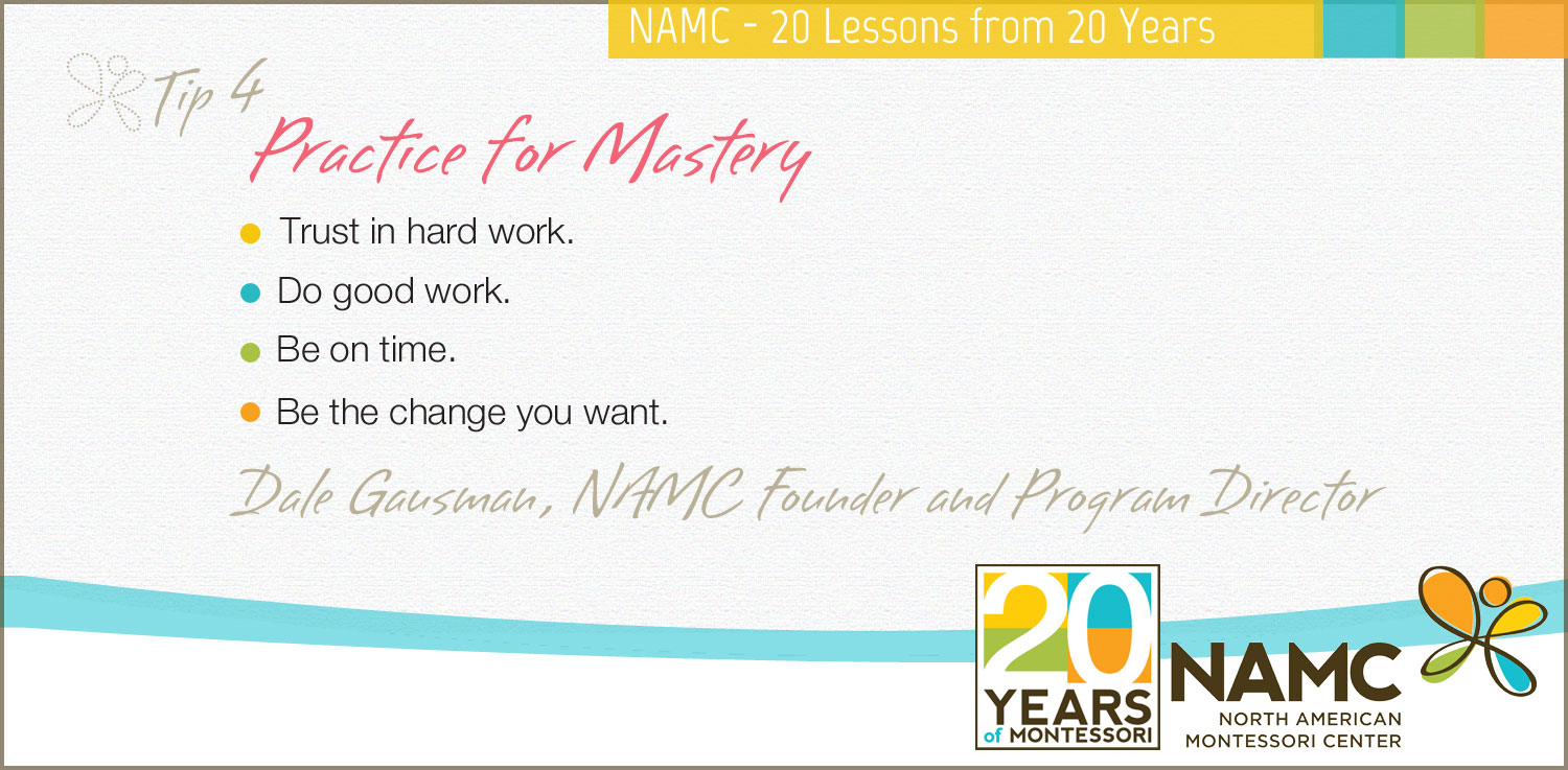 NAMC Montessori 20 tips 20 years practice for mastery