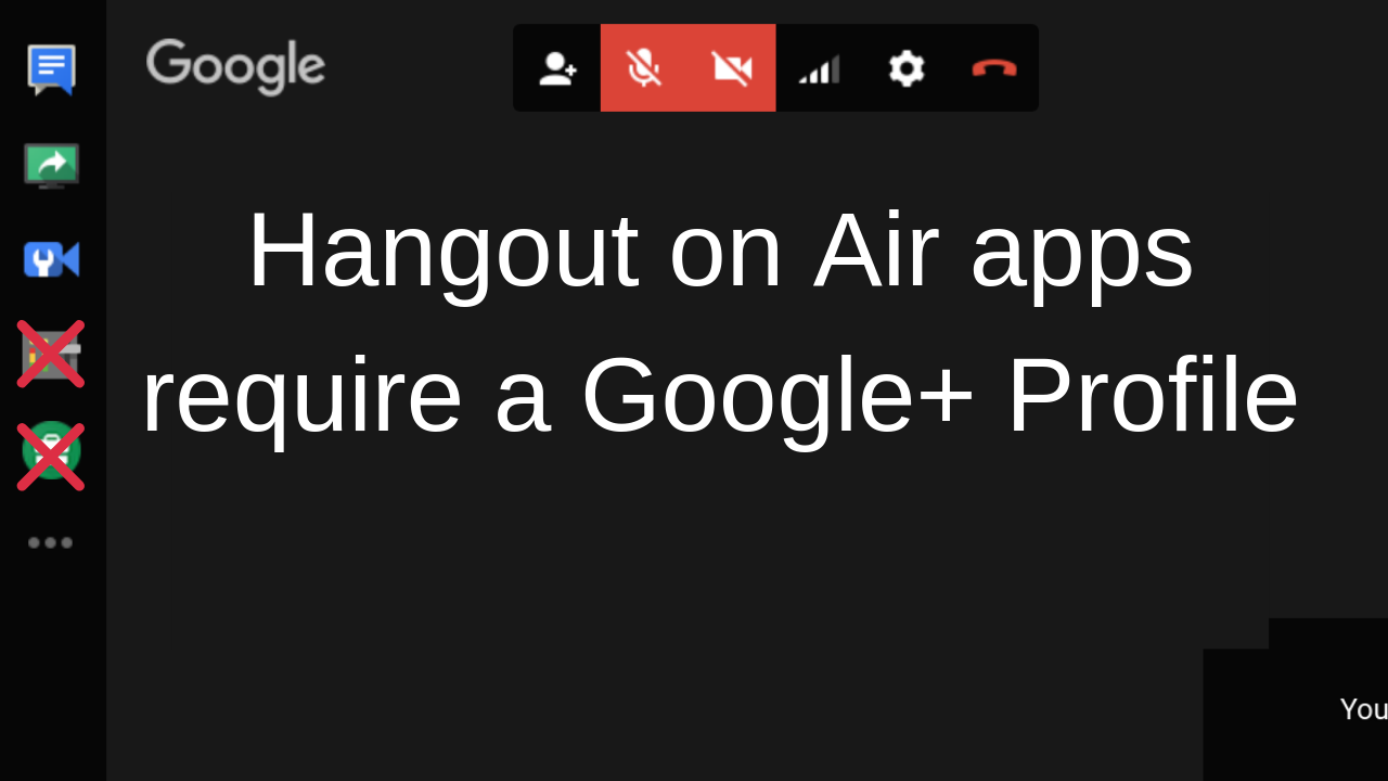 Hangout on Air apps Control Room, Hangouts Toolbox
