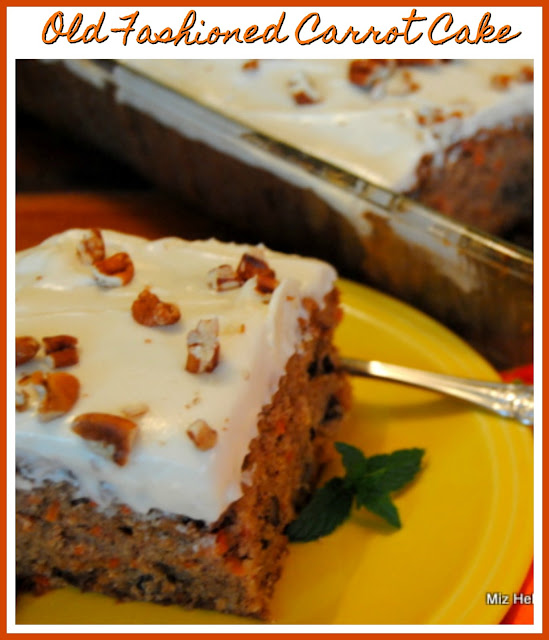 Old Fashioned Carrot Cake at Miz Helen's Country Cottage