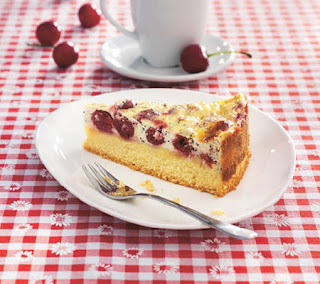 Cherry and poppy cake recipe