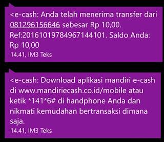 penipuan menggunakan mandiri e-cash