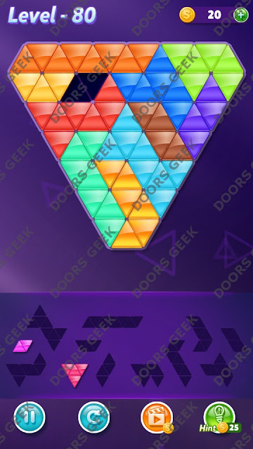 Block! Triangle Puzzle Challenger Level 80 Solution, Cheats, Walkthrough for Android, iPhone, iPad and iPod