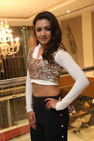 Catherine Tresa in a White Glittering Crop Top Black Leggings  Exclusive 019.JPG