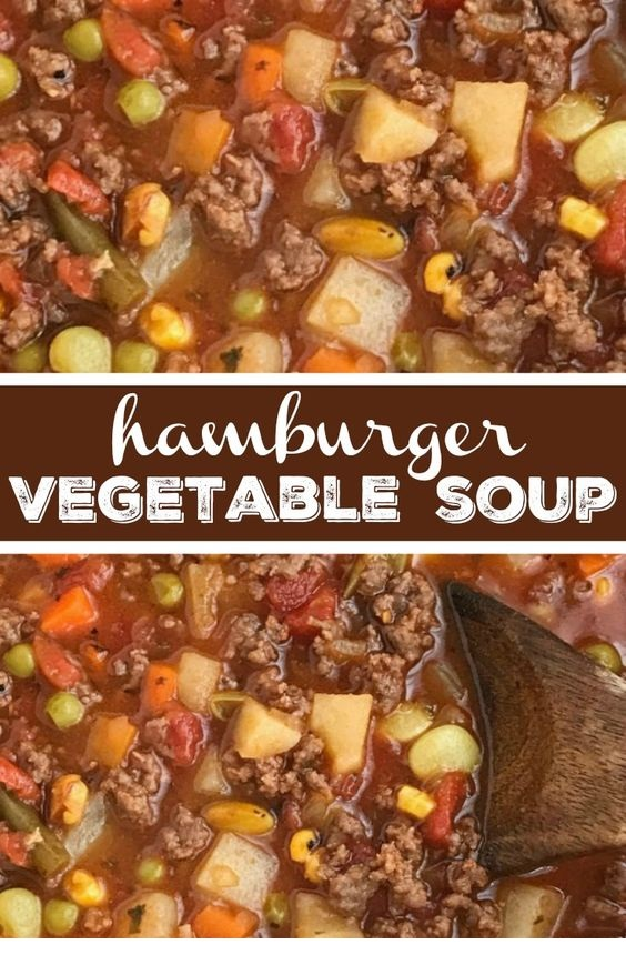 Tomato Hamburger Vegetable Soup