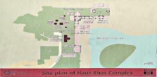Inner site Map of Hauz-I- Alai at Hauz Khash