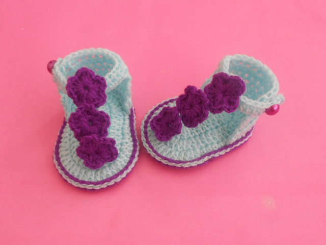 Crochet Crosia Free Patttern With Video Tutorials Baby Sandals