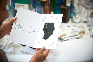Wedding Guest Holding a Silhouette