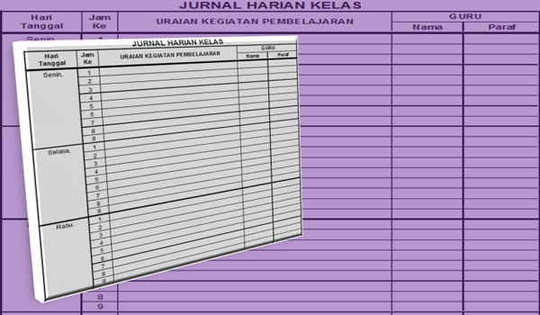 Contoh Format Jurnal atau Catatan Harian Kelas