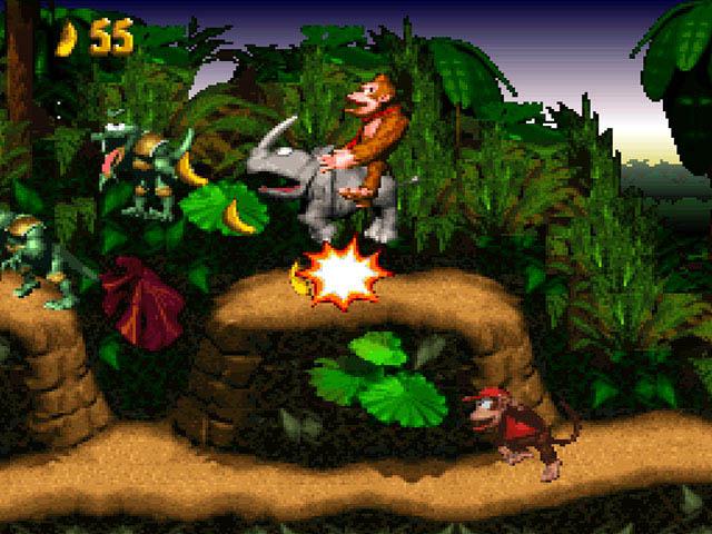 Juego de Donkey Kong Country para nintendo Super NES