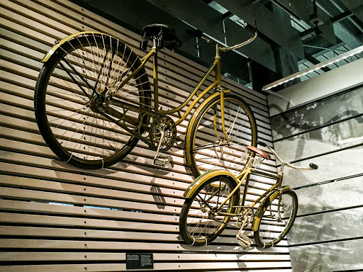 Harley Davidson Bicycles at the Harley Davidson Museum in Milwaukee WI