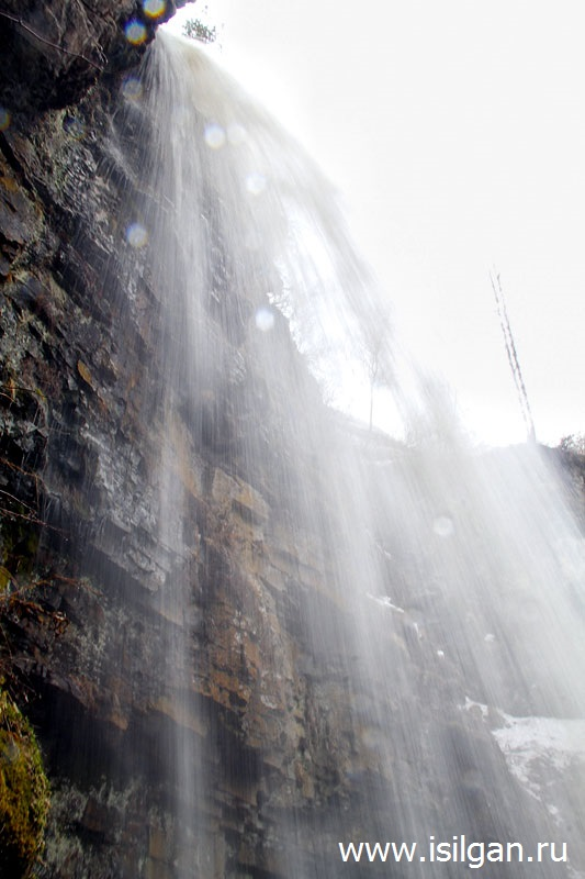 Алексеевский лог (Сухие водопады). Весенний водопад. Челябинская область