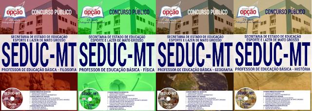 Apostila Secretaria de Educação de Mato Grosso professor da educação básica (Seduc MT) 2017