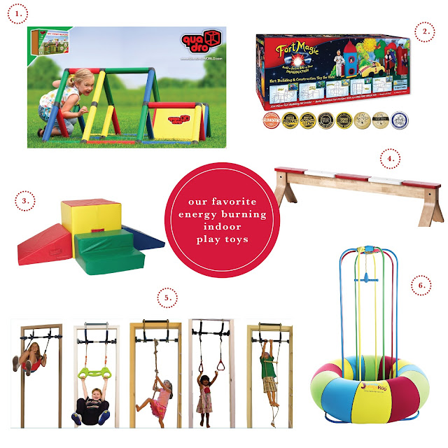Indoor play toys sure to delight during the long winter months.
