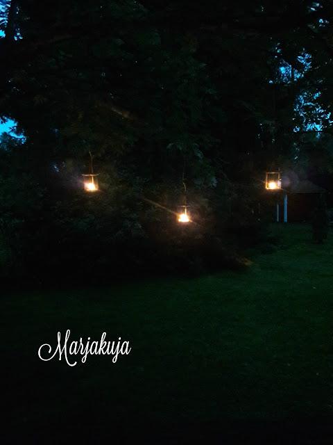 pimeassa tuikut puun oksalla roikkumassa