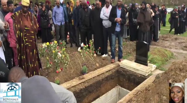 Exclusive pictures from the funeral of Nigerian Woman, Deronke Okunnubi, who died In London after celebrating husband's 40th Birthday, Mothers' Day