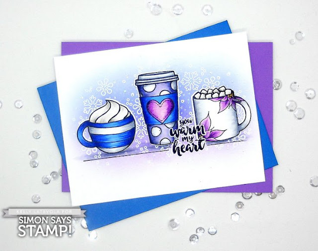 Sunny Studio Stamps: Mug Hugs Winter Themed Customer Card Share by Kelly Latevola