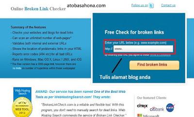 Cara mengetahui Link Blog yang Rusak