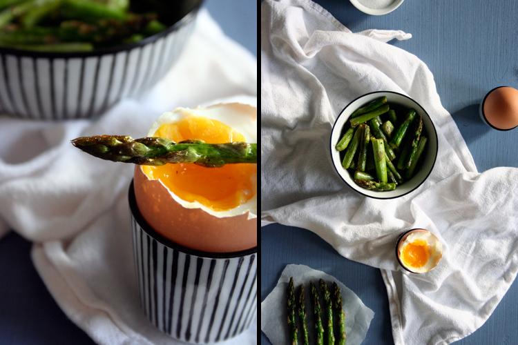 Grüner Spargel mit wachsweichen Eiern    Kochkarussell