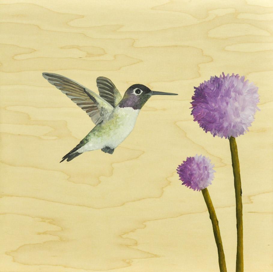 Simple Hummingbird Painting