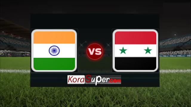 مشاهدة فريق سوريا ضد الهند / syria vs India 16-07-2019