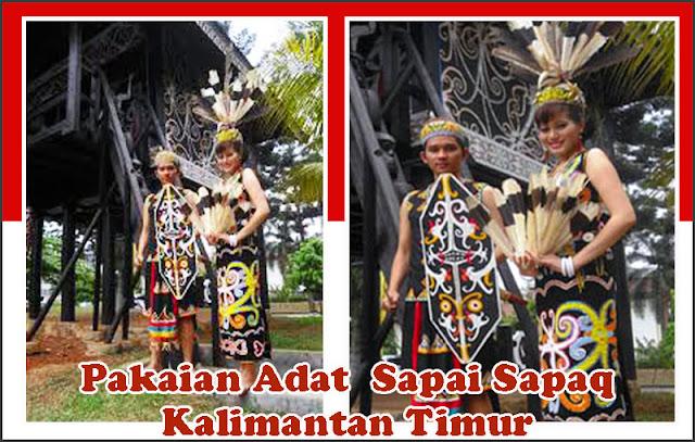 Gambar Pakaian Adat  Sapai Sapaq Kalimantan Timur