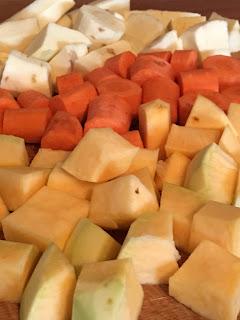 root vegetables for vegetarian stew