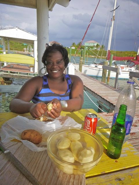 food, making cracked conch, cruising destinations, cruising activities, cruising life