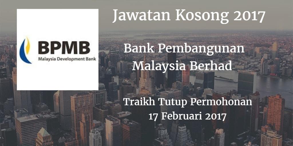 Jawatan Kosong BPMB 17 Februari 2017