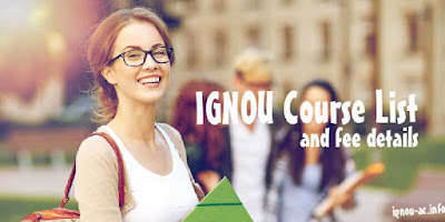 ignou courses list with fee