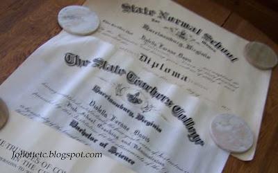 Violetta Davis Ryan's diplomas https://jollettetc.blogspot.com