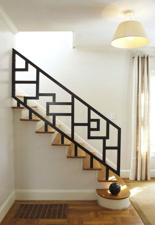 interior metal stair railing ideas for modern wooden staircase