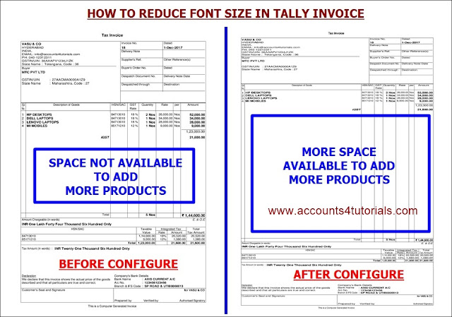 tally gst sales invoice printing configuration