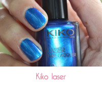 vernis à ongles kiko laser